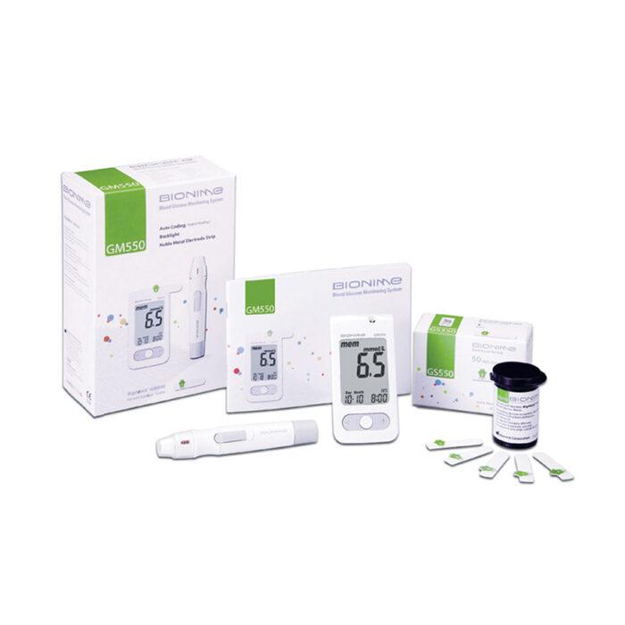 Set-za-mjerenje-šećera-u-krvi-Bionime-GM550-10-test-traka